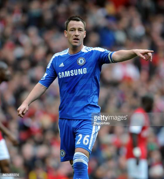 John Terry of Chelsea during the Barclays Premier League match between Arsenal and Chelsea at the Emirates Stadium on April 21 2012 in London England
