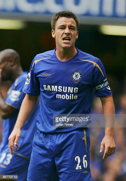 John Terry of Chelsea during the Barclays Premiership match between Chelsea and Aston Villa at Stamford Bridge on September 24 2005 in London England