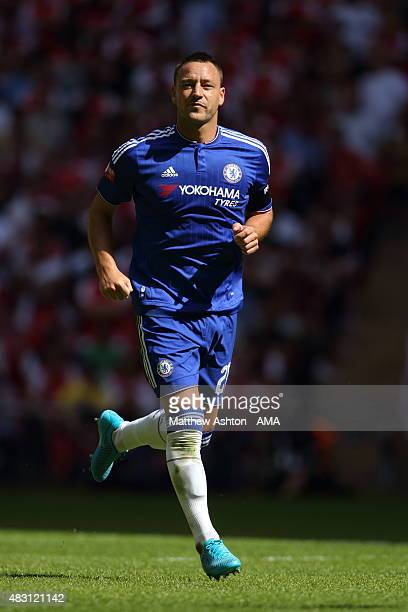 John Terry of Chelsea during the FA Community Shield match between Chelsea and Arsenal at Wembley Stadium on August 2 2015 in London England