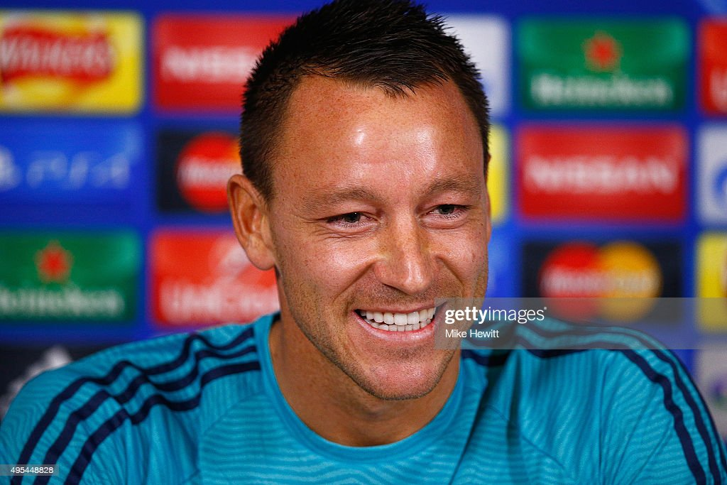 <a gi-track='captionPersonalityLinkClicked' href=/galleries/search?phrase=John+Terry&family=editorial&specificpeople=171535 ng-click='$event.stopPropagation()'>John Terry</a> of Chelsea faces the media during a Chelsea press conference, ahead of the UEFA Champions League Group G match between Chelsea and Dynamo Kiev, at Chelsea Training Ground on November 3, 2015 in Cobham, England.