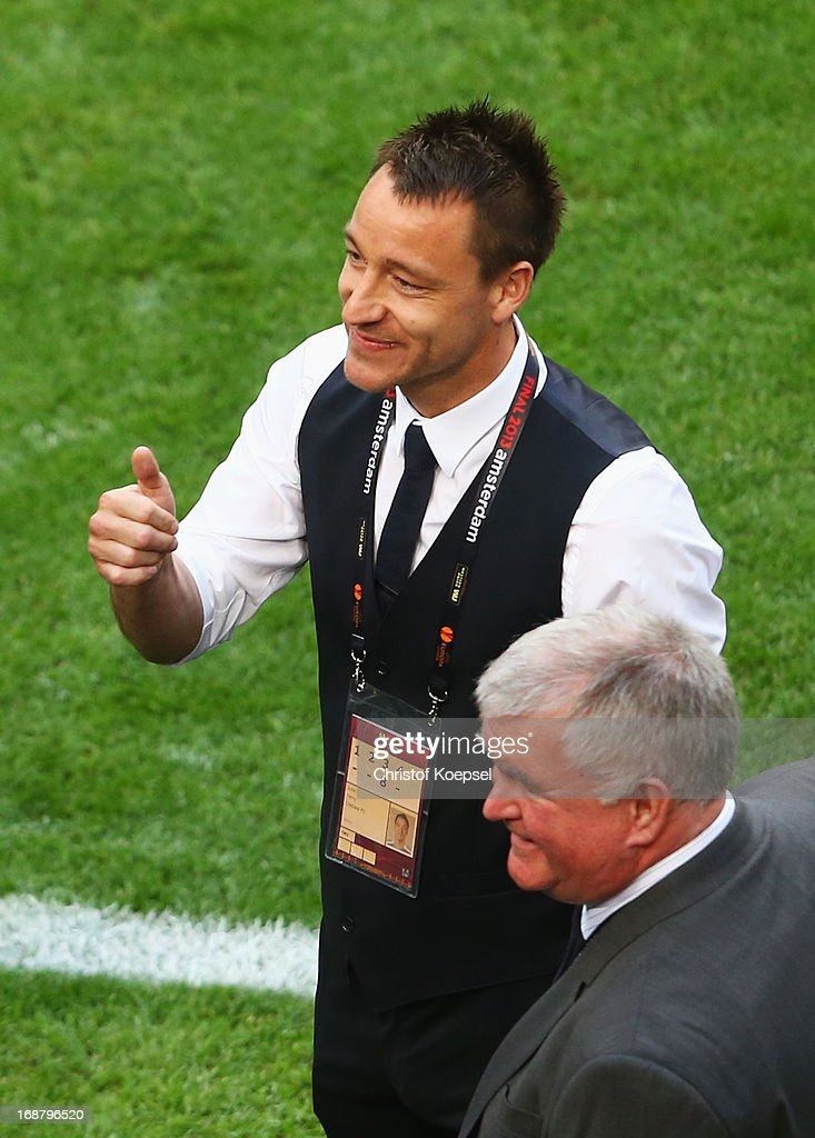 John Terry of Chelsea gives the thumbs up during the UEFA Europa League Final between SL Benfica and Chelsea FC at Amsterdam Arena on May 15, 2013 in Amsterdam, Netherlands.