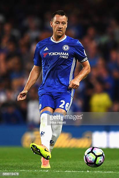 John Terry of Chelsea in action during the Premier League match between Chelsea and West Ham United at Stamford Bridge on August 15 2016 in London...
