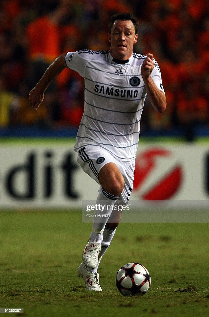 John Terry of Chelsea in action during the UEFA Champions League Group D match between Apoel Nicosia and Chelsea at the GSP Stadium on September 30...