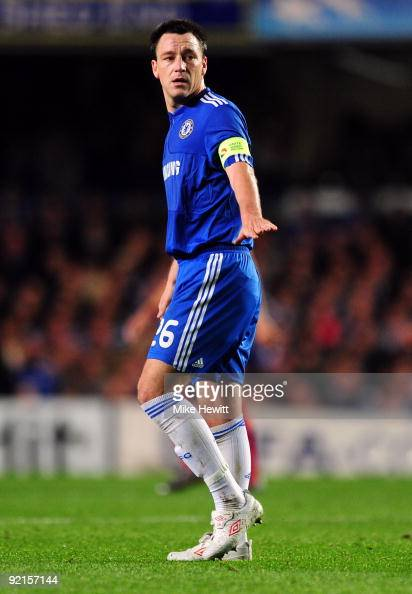 John Terry of Chelsea is pictured during the UEFA Champions League Group D match between Chelsea and Atletico Madrid at Stamford Bridge on October 21...