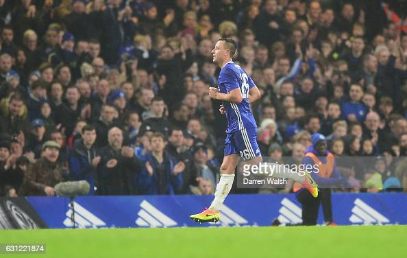 John Terry of Chelsea leaves the pitch as he is sent off during The Emirates FA Cup Third Round match between Chelsea and Peterborough United at...