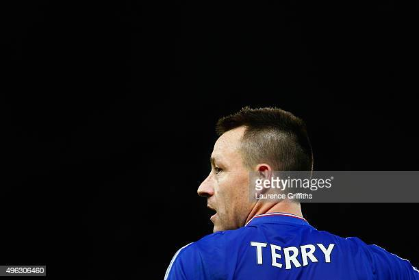 John Terry of Chelsea looks on during the Barclays Premier League match between Stoke City and Chelsea at Britannia Stadium on November 7 2015 in...