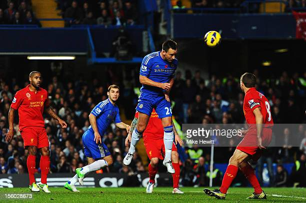John Terry of Chelsea scores during the Barclays Premier League match between Chelsea and Liverpool at Stamford Bridge on November 11 2012 in London...