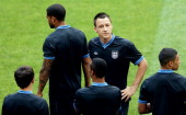 John Terry of England during a UEFA EURO 2012 training session at the Donbass Arena on June 10 2012 in Donetsk Ukraine