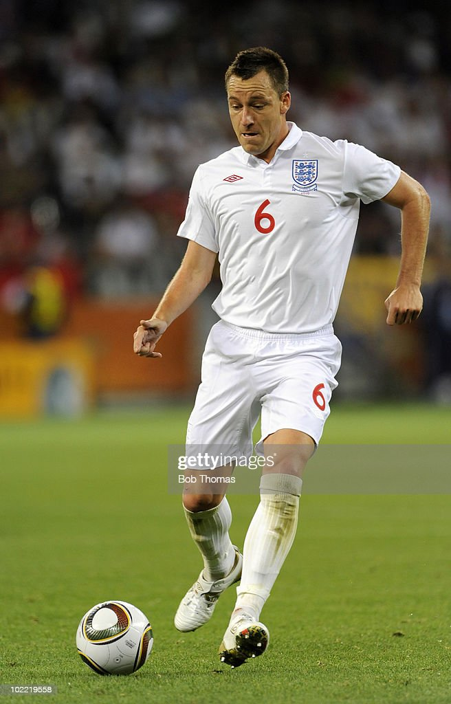 <a gi-track='captionPersonalityLinkClicked' href=/galleries/search?phrase=John+Terry&family=editorial&specificpeople=171535 ng-click='$event.stopPropagation()'>John Terry</a> of England during the 2010 FIFA World Cup South Africa Group C match between England and Algeria at Green Point Stadium on June 18, 2010 in Cape Town, South Africa. The match was drawn 0-0.