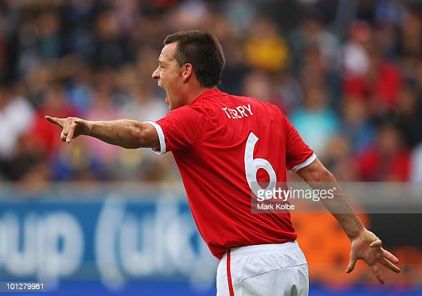 John Terry of England shouts instructions during the International Friendly between Japan and England at UPCArena on May 30 2010 in Graz Austria