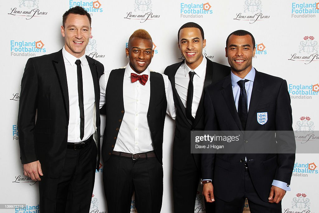 L-R John Terry, OritsT Williams, Marvin Humes and Ashley Cole attend The England Footballers Foundation Lions and Roses Charity Dinner 2012 in aid of Help For Heroes and Cancer Research UK at The Brewery on February 26, 2012 in London, England.