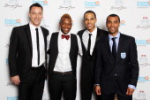 LR John Terry OritsT Williams Marvin Humes and Ashley Cole attend The England Footballers Foundation Lions and Roses Charity Dinner 2012 in aid of...