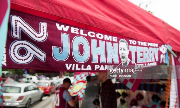 John Terry scarves for sale prior to the preseason friendly match between Aston Villa and Watford at Villa Park on July 29 2017 in Birmingham England