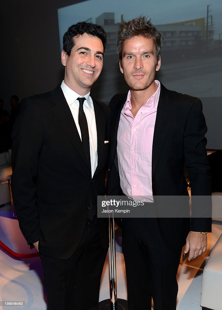 John Terzian and actor/musician <a gi-track='captionPersonalityLinkClicked' href=/galleries/search?phrase=Balthazar+Getty&family=editorial&specificpeople=225043 ng-click='$event.stopPropagation()'>Balthazar Getty</a> joined President Bill Clinton and Kobe Bryant at the grand opening of STEP UP ON VINE on January 14, 2013 in Los Angeles, California.