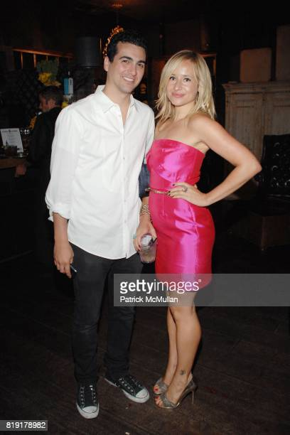 John Terzian Tamsin Lonsdale attend The Supper Club Shepard Fairey's SNO host a Bombay Sapphire Tea Party at The Tea Room on July 20 2010 in...