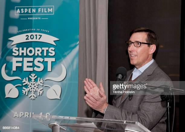 John Thew attends the 2017 Aspen Shortsfest Awards Dinner on April 9 2017 at Aspen Kitchen in Aspen Colorado