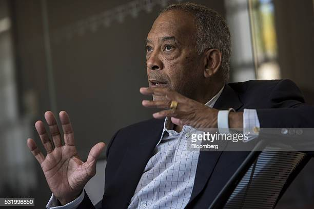 John Thompson chief executive officer of Virtual Instruments Corp and chairman of Microsoft Corp speaks during an interview in San Francisco...