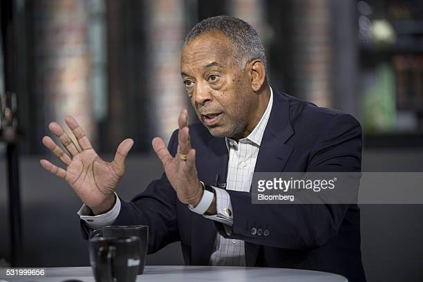 John Thompson chief executive officer of Virtual Instruments Corp and chairman of Microsoft Corp speaks during a Bloomberg West Television interview...
