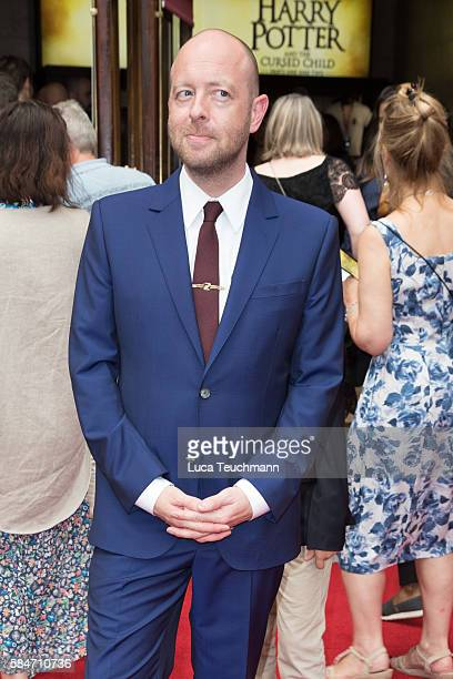 John Tiffany attends the press preview of 'Harry Potter The Cursed Child' at Palace Theatre on July 30 2016 in London England