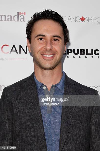 John Tishbi attends the Canada Day party in LA on the Sunset Strip on July 1 2014 in West Hollywood California