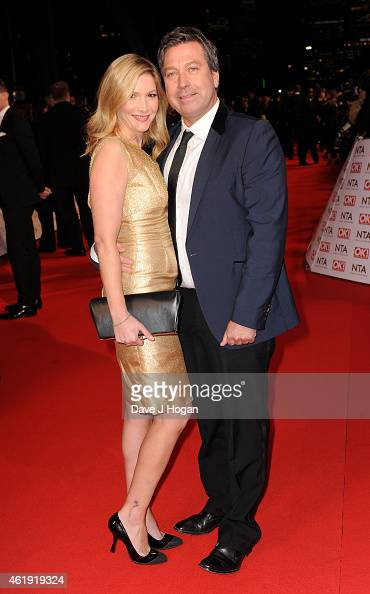 John Torode and Lisa Faulkner attend the National Television Awards at 02 Arena on January 21 2015 in London England