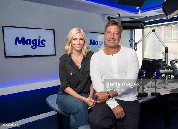 John Torode and Lisa Faulkner prepare to host a 2part special from 13pm on Saturday 20th and 27th August while at Magic FM Studio on August 11 2016...