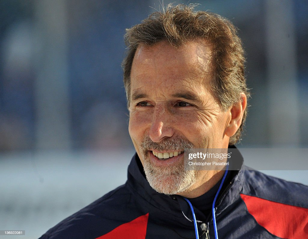 <a gi-track='captionPersonalityLinkClicked' href=/galleries/search?phrase=John+Tortorella&family=editorial&specificpeople=213393 ng-click='$event.stopPropagation()'>John Tortorella</a> of the New York Rangers looks on during practice for the 2012 Bridgestone NHL Winter Classic at Citizens Bank Park on January 1, 2012 in Philadelphia, Pennsylvania.