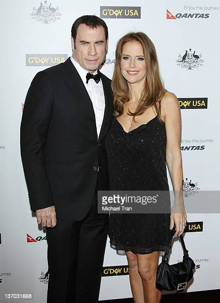 John Travolta and Kelly Preston arrive at the 9th Annual G'Day USA Los Angeles Gala held at the Grand Ballroom at Hollywood Highland Center on...