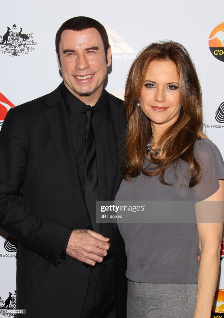 John Travolta and Kelly Preston attend the 2013 G'Day USA Black Tie Gala at JW Marriott Los Angeles at L.A. LIVE on January 12, 2013 in Los Angeles, California.