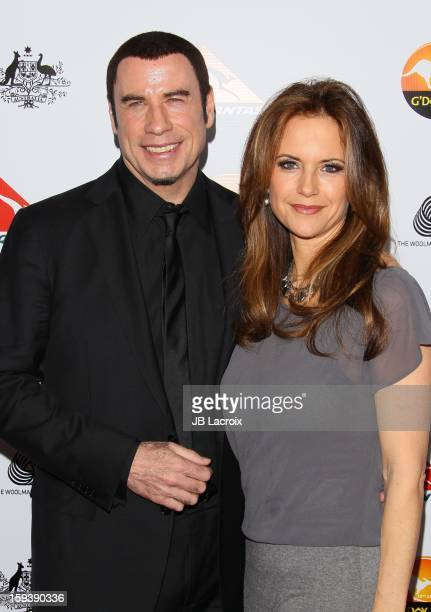 John Travolta and Kelly Preston attend the 2013 G'Day USA Black Tie Gala at JW Marriott Los Angeles at LA LIVE on January 12 2013 in Los Angeles...
