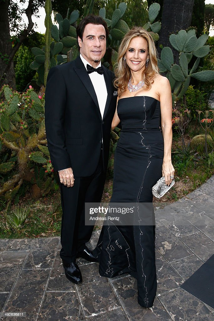 <a gi-track='captionPersonalityLinkClicked' href=/galleries/search?phrase=John+Travolta&family=editorial&specificpeople=178204 ng-click='$event.stopPropagation()'>John Travolta</a> and <a gi-track='captionPersonalityLinkClicked' href=/galleries/search?phrase=Kelly+Preston&family=editorial&specificpeople=159434 ng-click='$event.stopPropagation()'>Kelly Preston</a> attend the Puerto Azul Experience at the 67th Annual Cannes Film Festival on May 21, 2014 in Cannes, France.