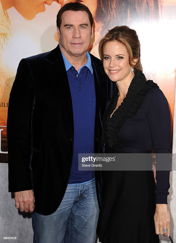John Travolta and Kelly Preston attends the 'The Last Song' Los Angeles Premiere at ArcLight Hollywood on March 25, 2010 in Hollywood, California.