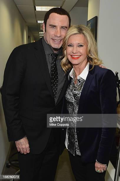 John Travolta and Olivia NewtonJohn attend SiriusXM's Town Hall with John Travolta and Olivia NewtonJohn hosted by Didi Conn at the SiriusXM studios...
