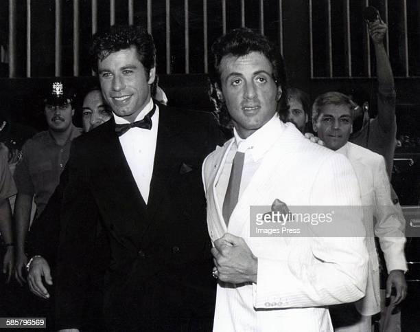 John Travolta and Sylvester Stallone circa 1980 in New York City
