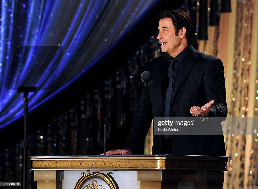 John Travolta attends the Church of Scientology Celebrity Centre 44th Anniversary Gala on August 24 2013 in Los Angeles California