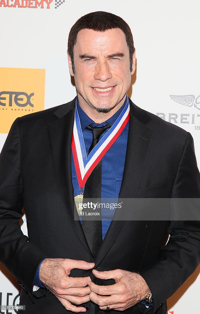 John Travolta attends the Living Legends Of Aviation Awards at The Beverly Hilton Hotel on January 18, 2013 in Beverly Hills, California.