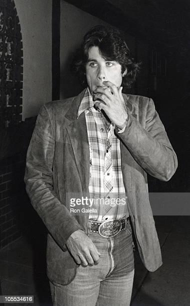 John Travolta during John Travolta Sighting at La Scala Restaurant in Los Angeles April 5 1980 at La Scala Restaurant in Los Angeles California...