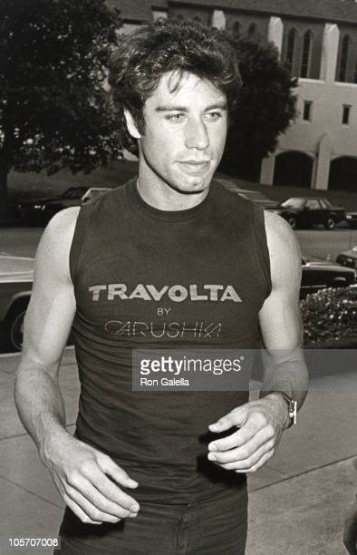 John Travolta during John Travolta Sighting at the Westwood Marquis in Los Angeles August 15 1983 at Westwood Marquis in Los Angeles California...