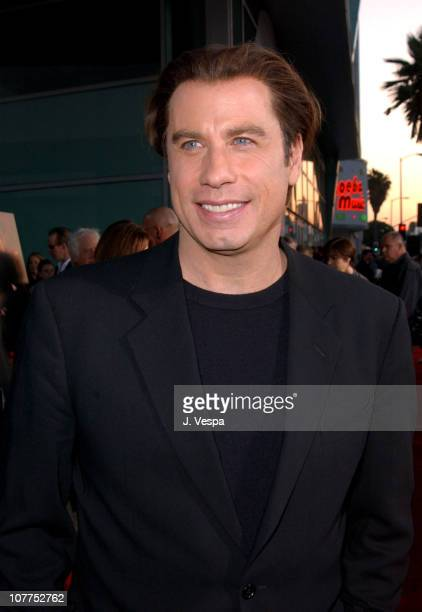 John Travolta during 'The Punisher' Los Angeles Premiere Red Carpet at ArcLight Theater in Hollywood California United States