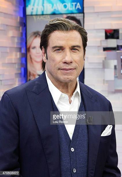 AMERICA John Travolta is a guest on 'Good Morning America' 4/20/15 airing on the ABC Television Network
