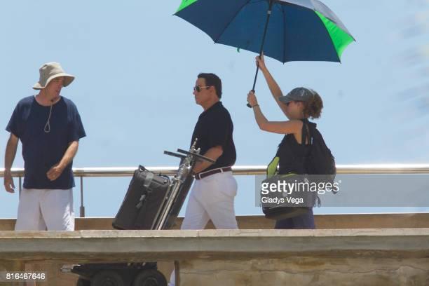 John Travolta is seen on the set of 'Cigarette' on July 17 2017 in San Juan Puerto Rico
