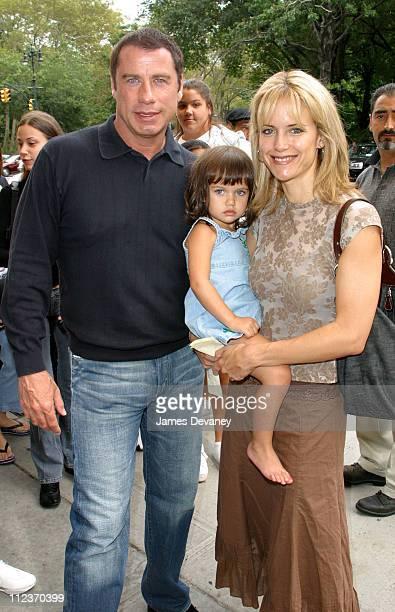 John Travolta Kelly Preston and daughter during John Travolta and Family in Midtown Manhattan in New York City New York United States