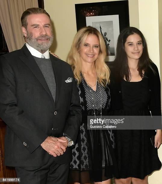 John Travolta Kelly Preston and Ella Bleu Travolta attend the Ambi Gala In Honor of the Movie 'Trading Paint' on September 1 2017 at an unspecified...