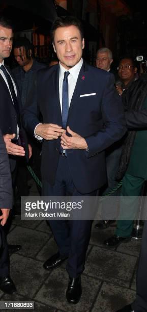 John Travolta leaving Annabel's club on June 27 2013 in London England