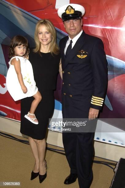John Travolta with wife Kelly Preston daughter Ella Bleu