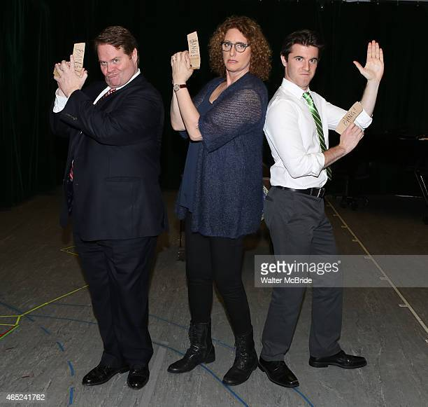John Treacy Egan Judy Gold and Kevin Zak during the 'Clinton The Musical' Sneak Peek at Ripley Grier Studios on March 4 2015 in New York City