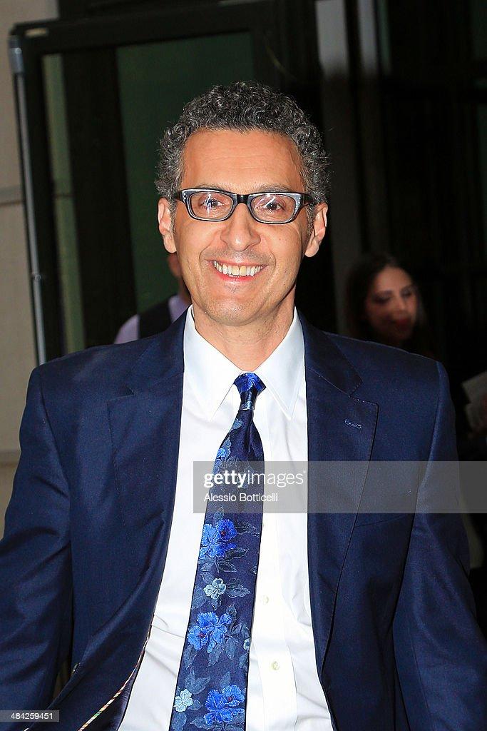 John Turturro leaving press junket for Fading Gigolo on April 11, 2014 in New York City.
