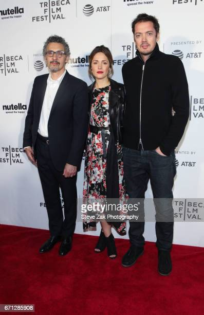 John Turturro Rose Byrne and Marcus Wainwright of 'Hair' attend the Shorts Program New York Group Therapy during the 2017 Tribeca Film Festival at...