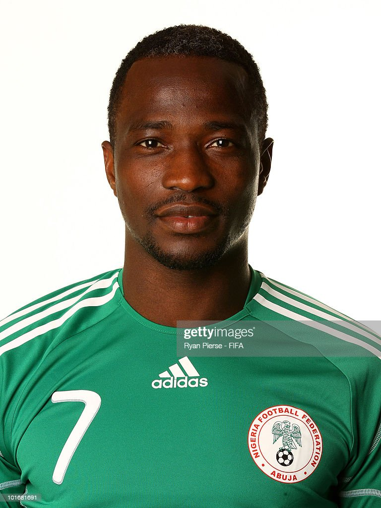 <a gi-track='captionPersonalityLinkClicked' href=/galleries/search?phrase=John+Utaka&family=editorial&specificpeople=654081 ng-click='$event.stopPropagation()'>John Utaka</a> of Nigeria poses during the official FIFA World Cup 2010 portrait session on June 6, 2010 in Johannesburg, South Africa.