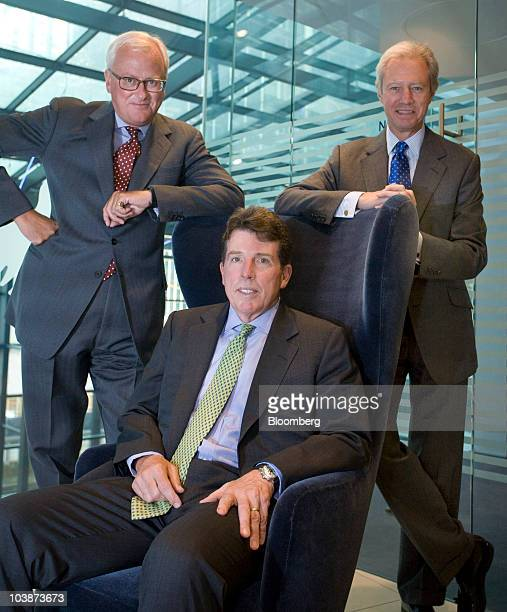 John Varley outgoing chief executive officer of Barclays Plc left with Robert 'Bob' Diamond president and incoming chief executive officer of...